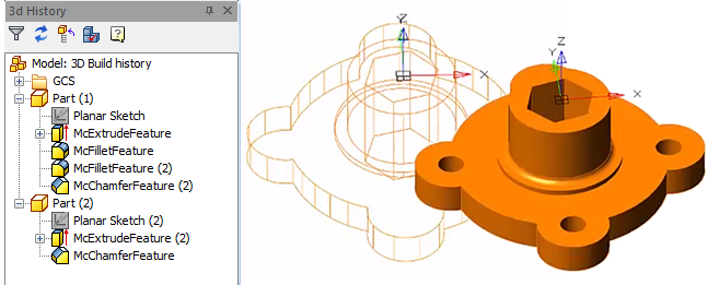 Bricsys Component Technology is used in nanoCAD Pro for parametric drawing