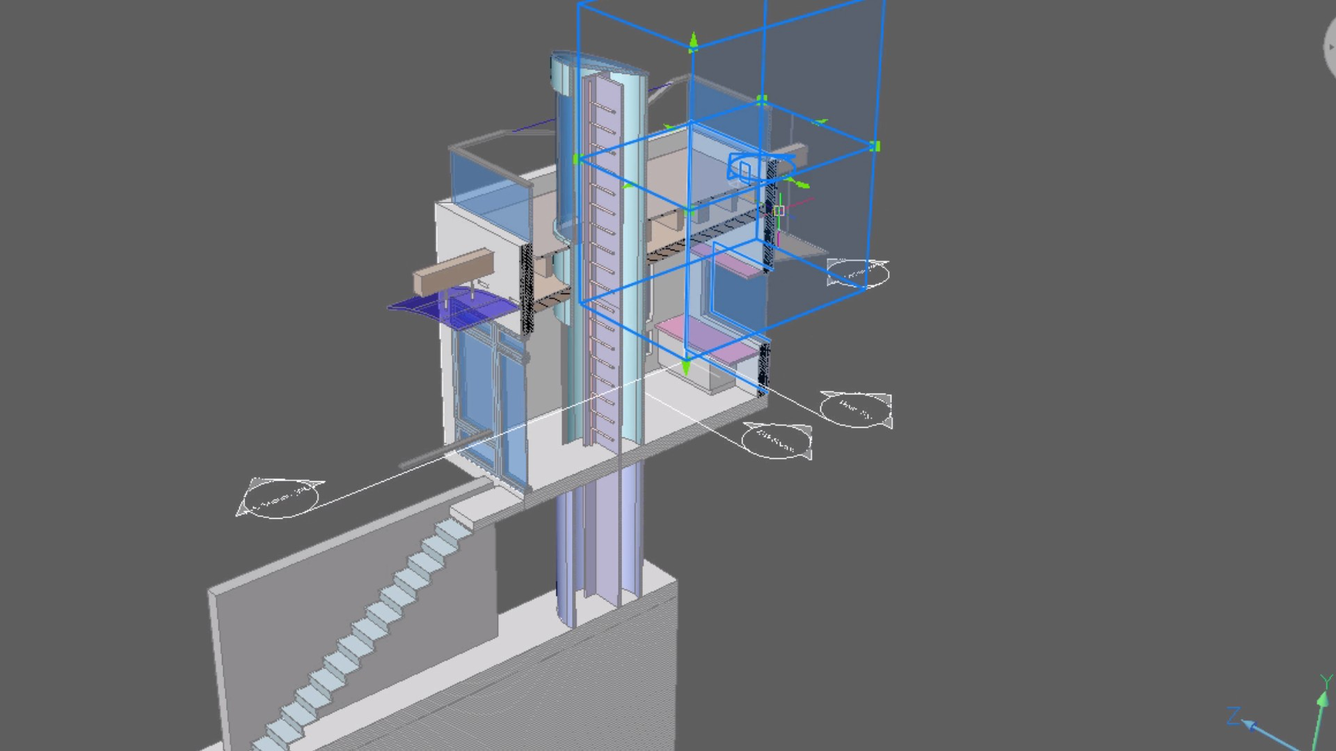 section to detail BricsCAD BIM