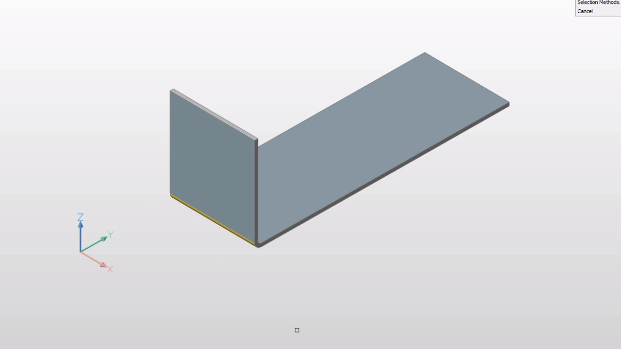 Flange bend BricsCAD sheet metal