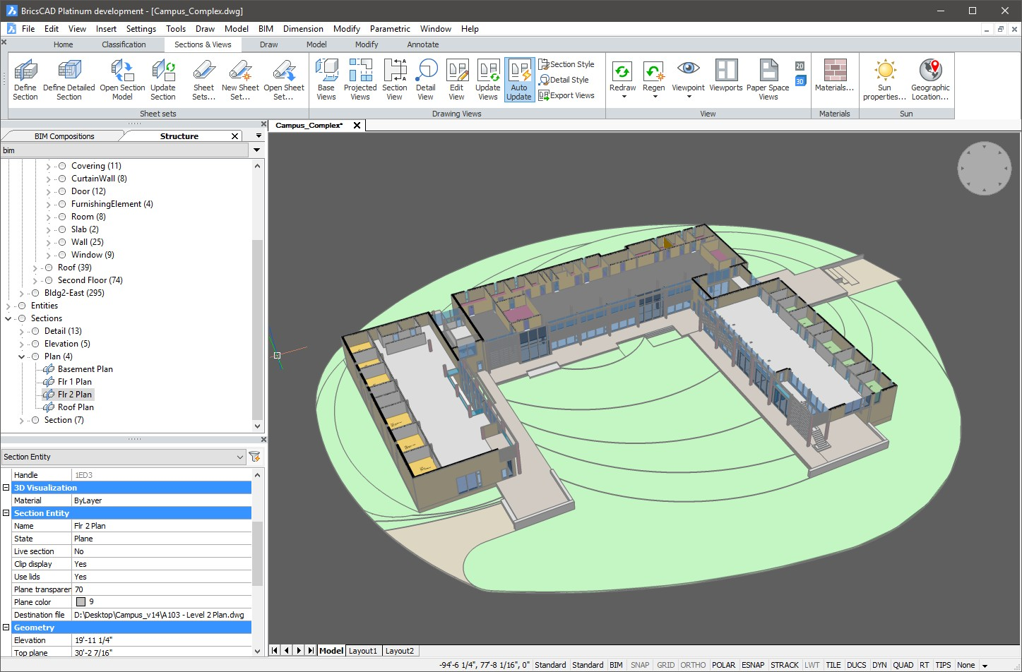 interface BricsCAD BIM