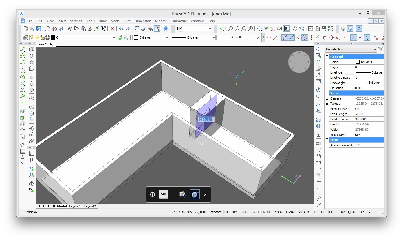BricsCAD BIM - walls - Bricsys CAD Blog