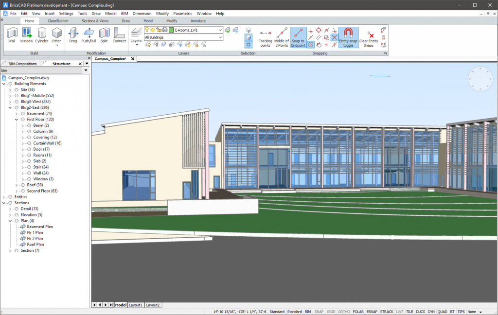 BricsCAD BIM Interface