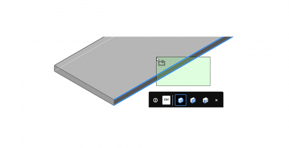BricsCAD's Tips widget interface
