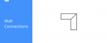 Wall connections icon in BricsCAD Shape
