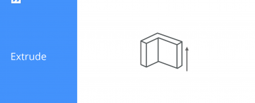 Extrude icon in BricsCAD Shape
