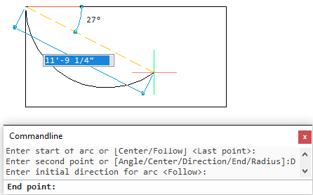 BricsCAD Drawing Entities - Arc