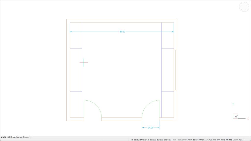 BricsCAD Quad floorplan