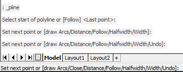 BricsCAD Command history