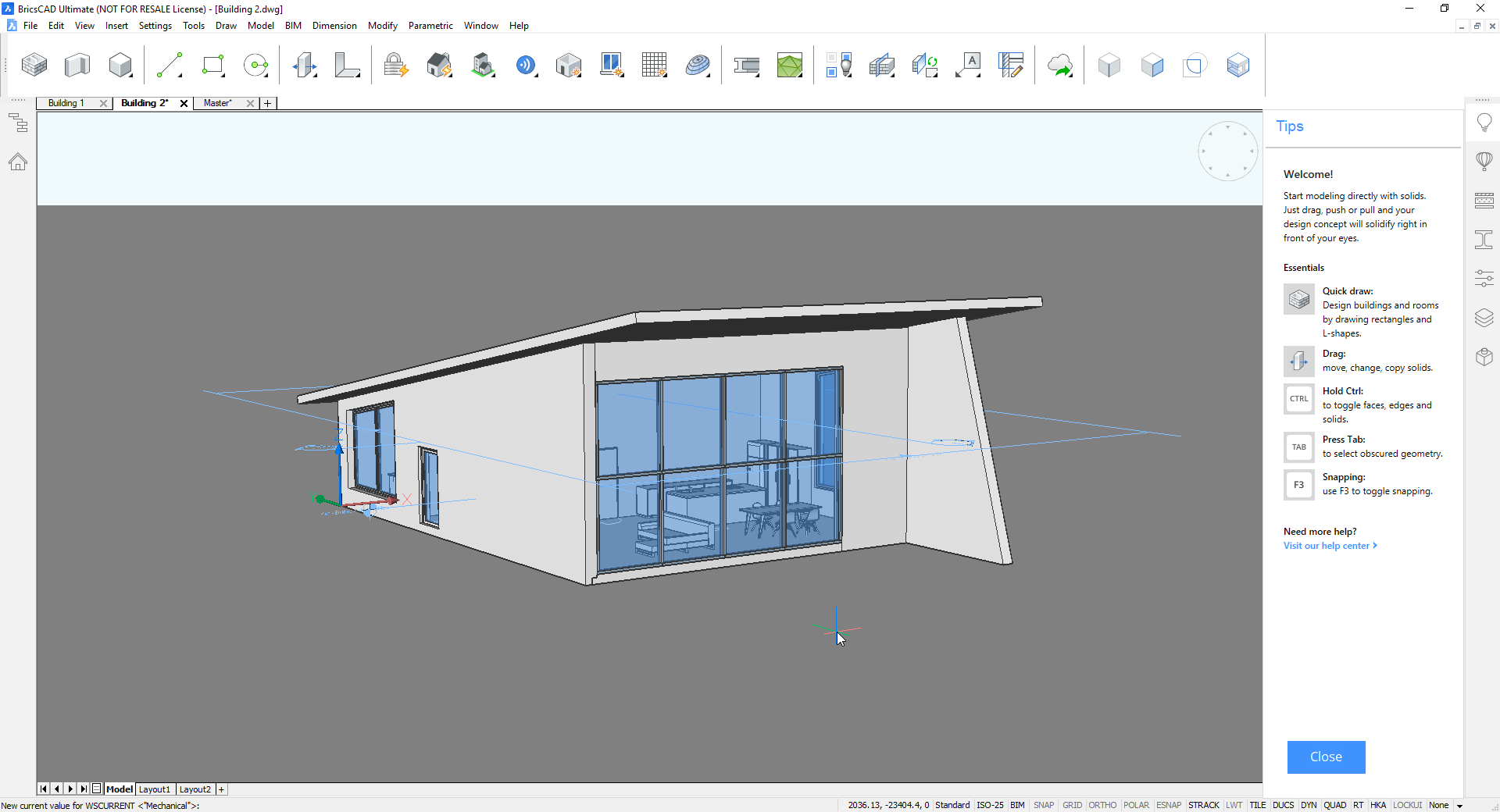BricsCAD Journey - Part 7: Exploring each Workspace
