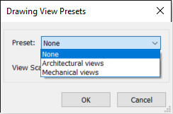 Drawing Views - Presets