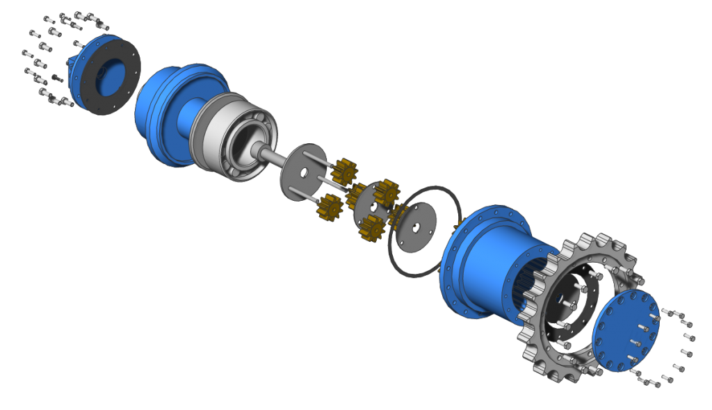 BricsCAD Mechanical Exploded view