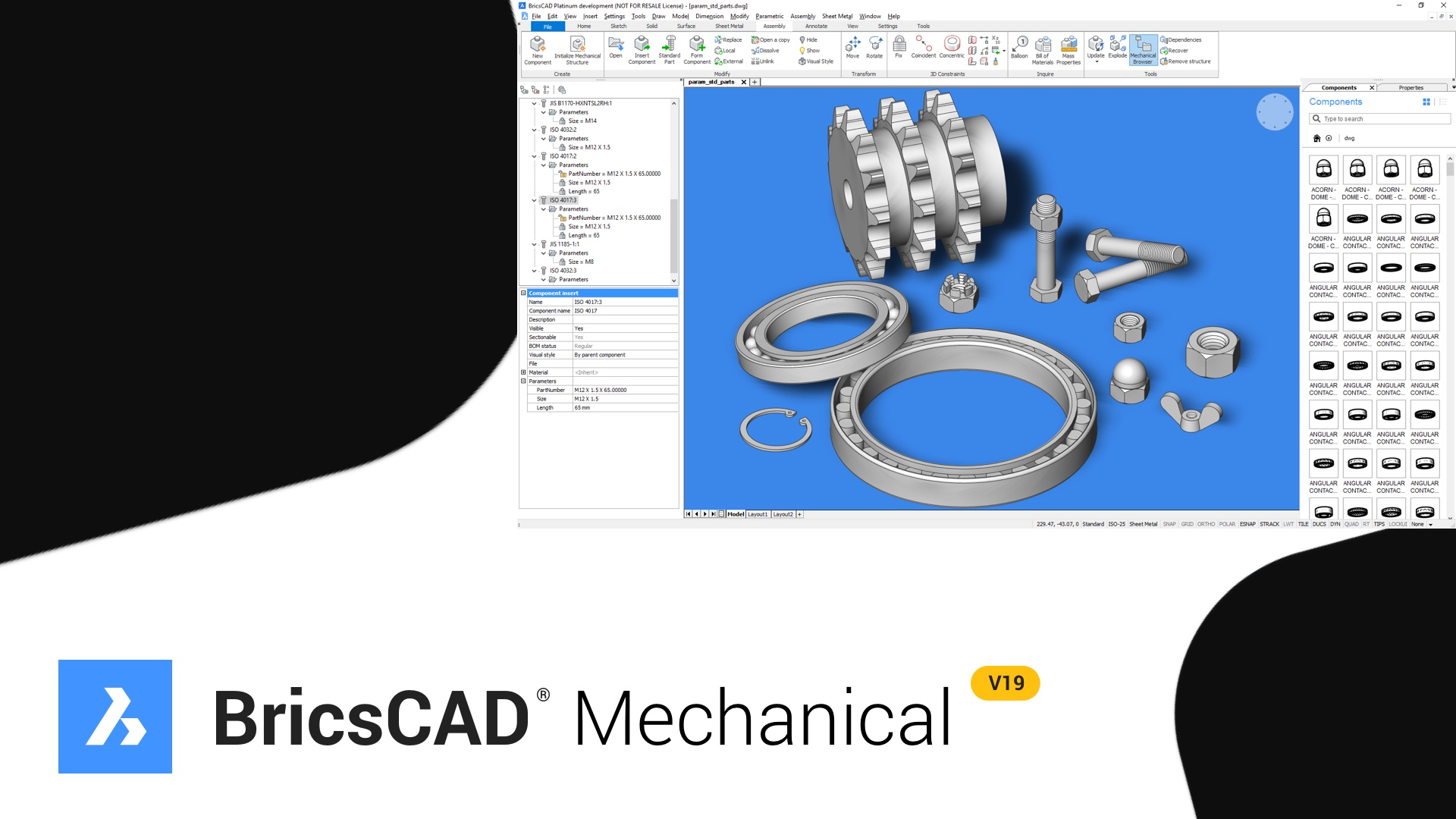 Introducing BricsCAD® Mechanical - Components - Bricsys CAD Blog