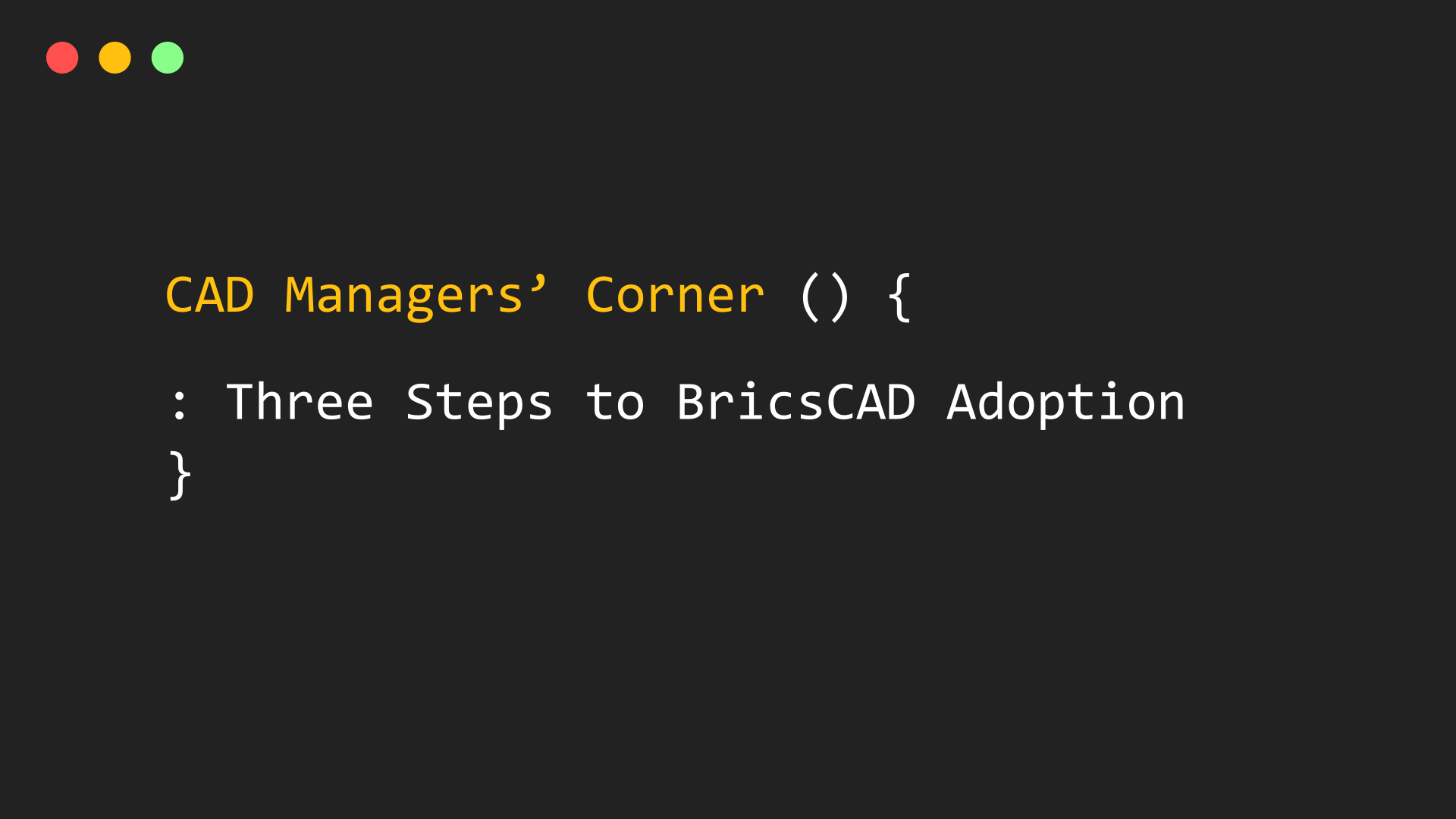 converting to BricsCAD