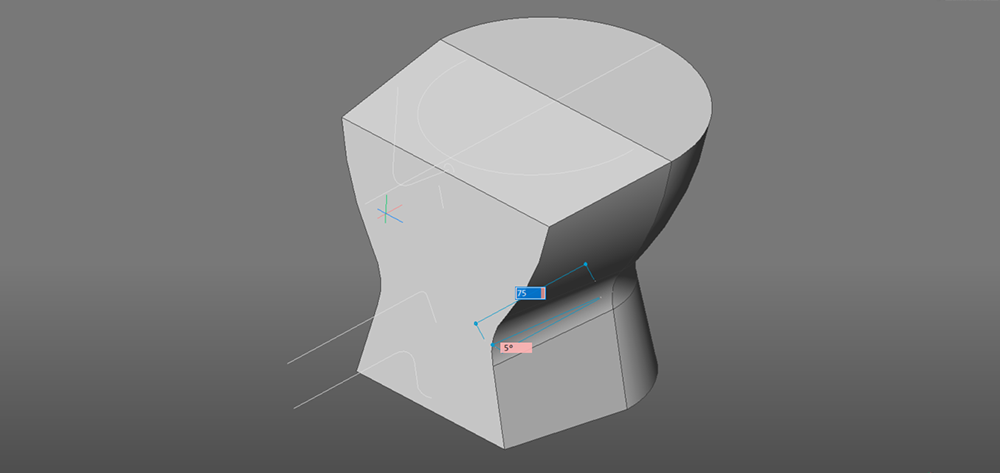 toilet drawing extrude taper