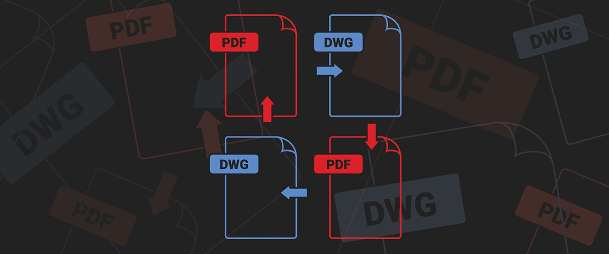 Convert between PDF and .dwg in BricsCAD