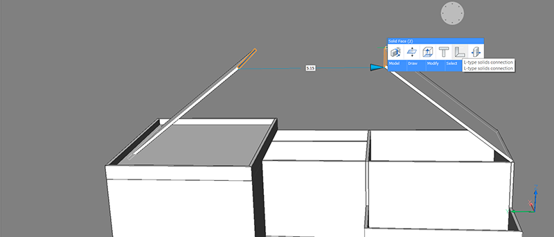 how to make a roof BricsCAD BIM example project