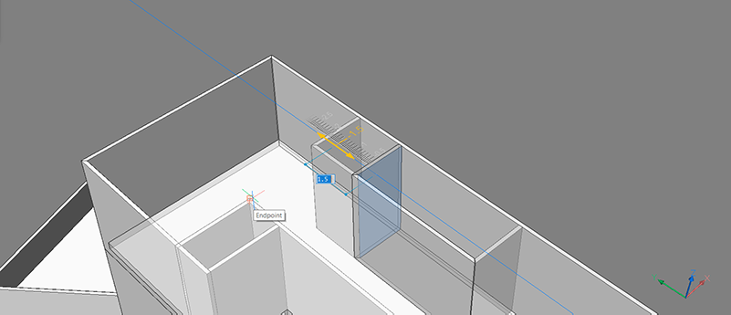 bim project bim drag move reposition walls