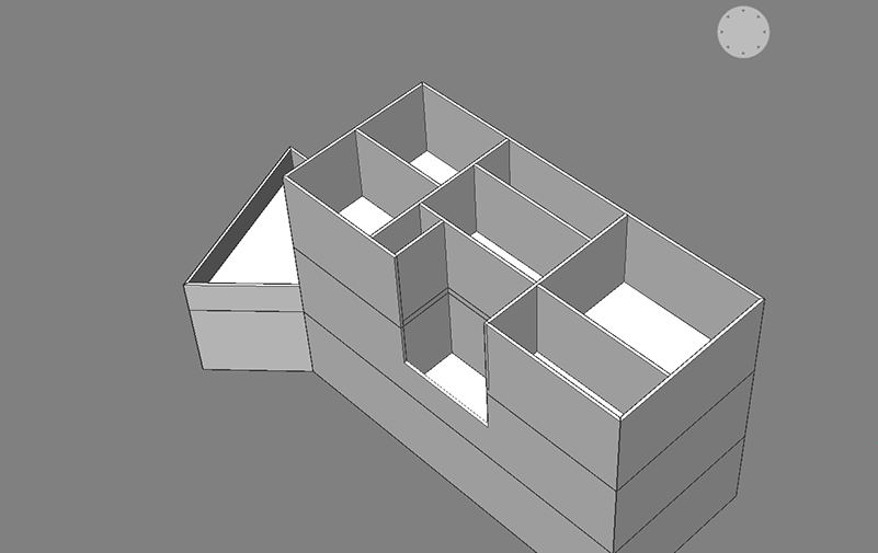 bim project room layout house drafting modeling in 3d