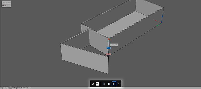 bim project polysolid angled walls
