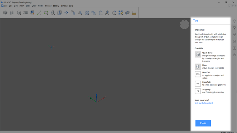 learn cad free software BricsCAD Shape