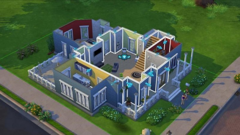 the Sims isometric view
