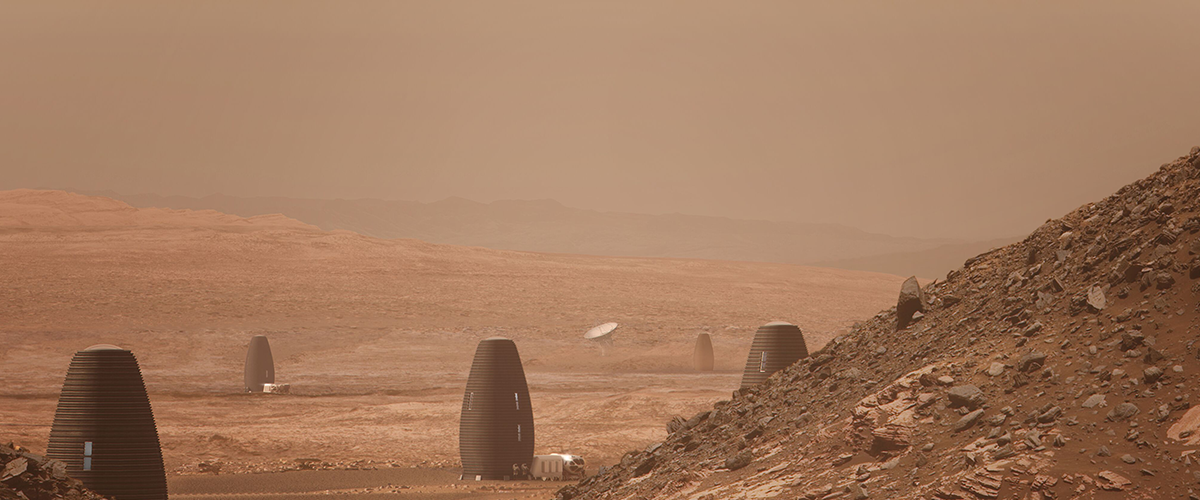 Spend the night in a Martian house