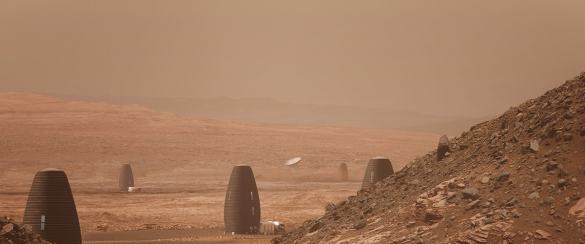 spend the night in a Martian Home