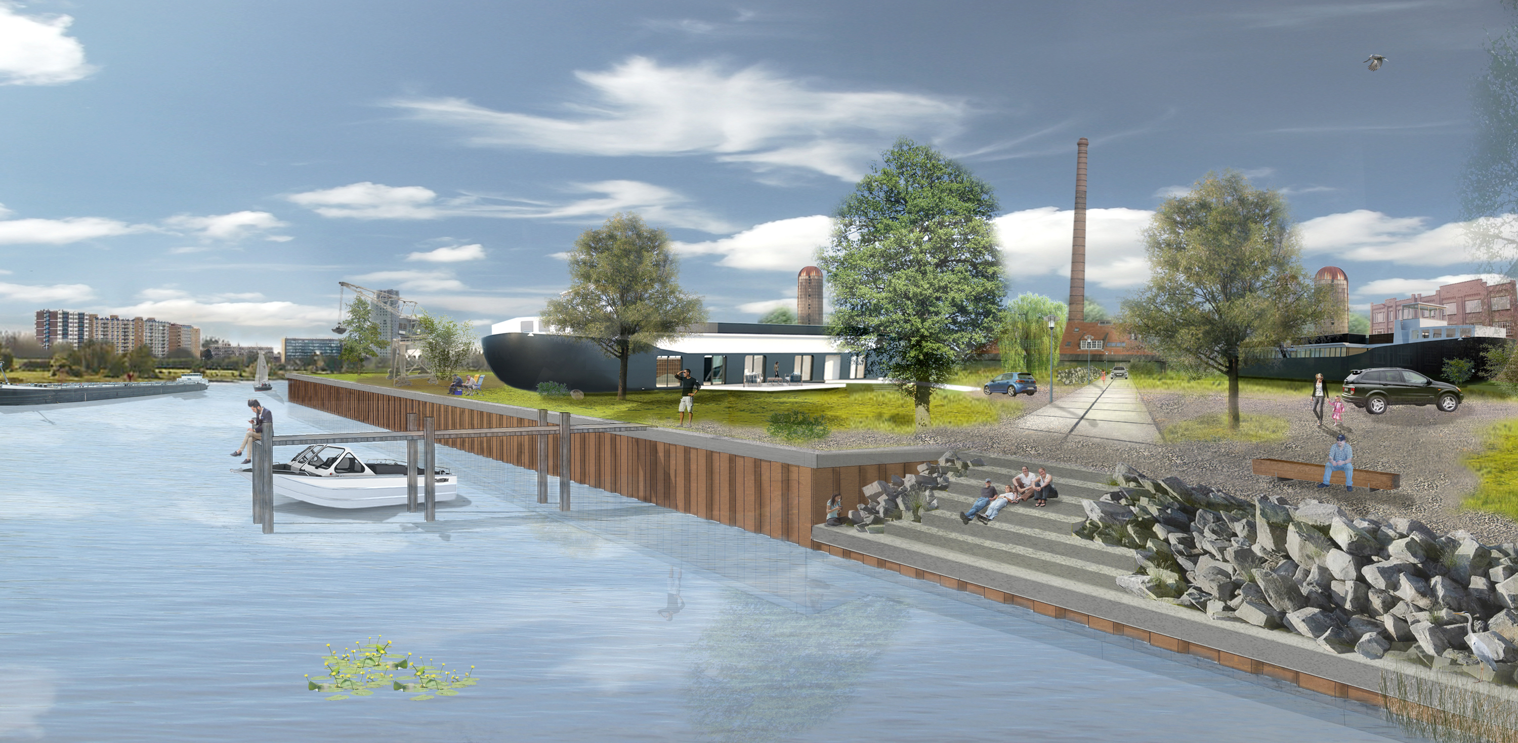 sustainable house upcycle boat home on land netherlands