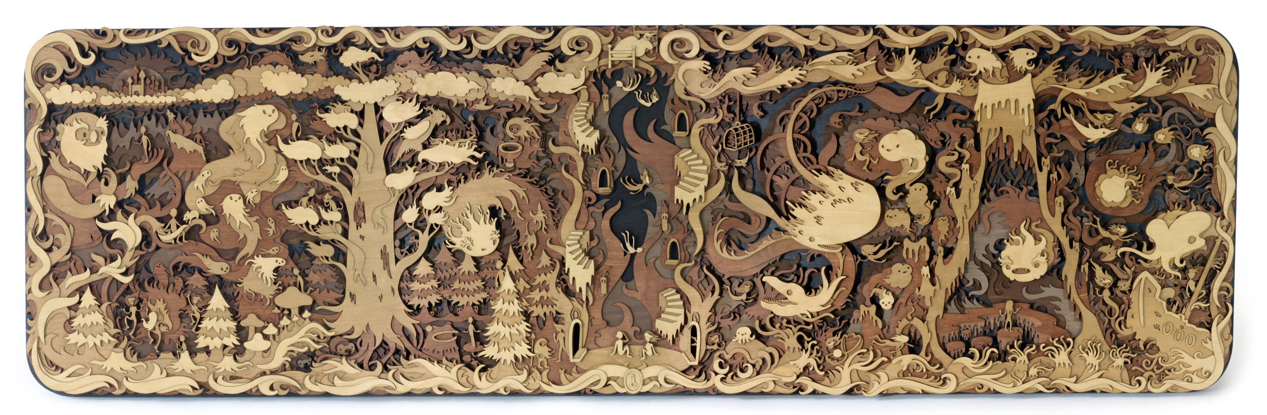 laser cut artwork fantasy storybook