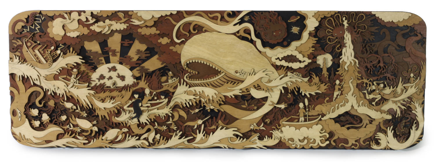 wood laser cut artwork