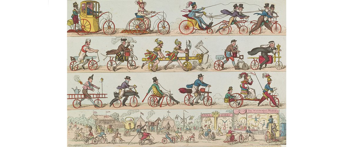 The first bicycles