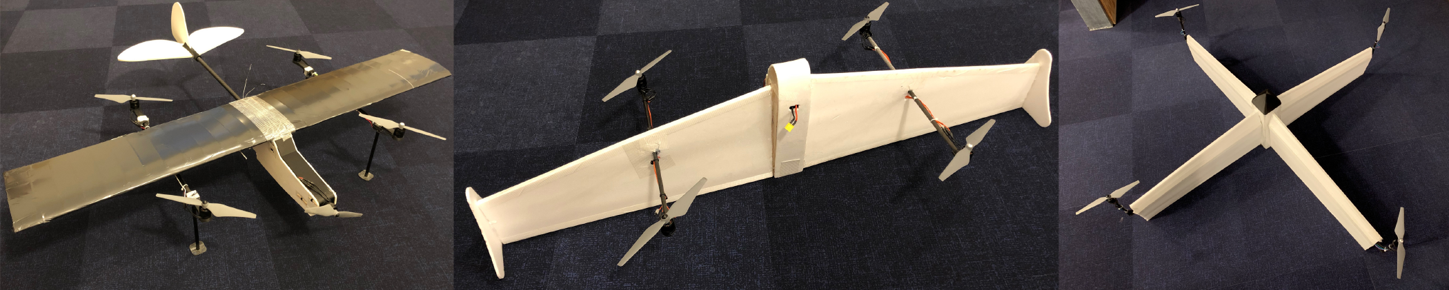 model hybrid drone built on computer simulation