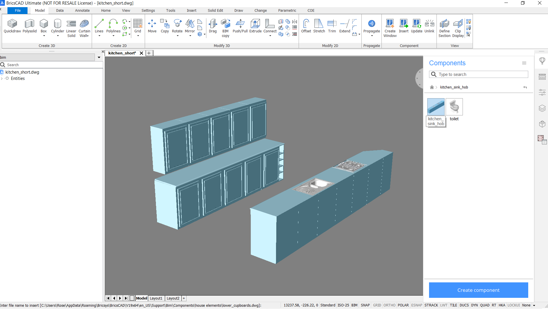 create your ownd CAD blocks and dwg componets with BricsCAD
