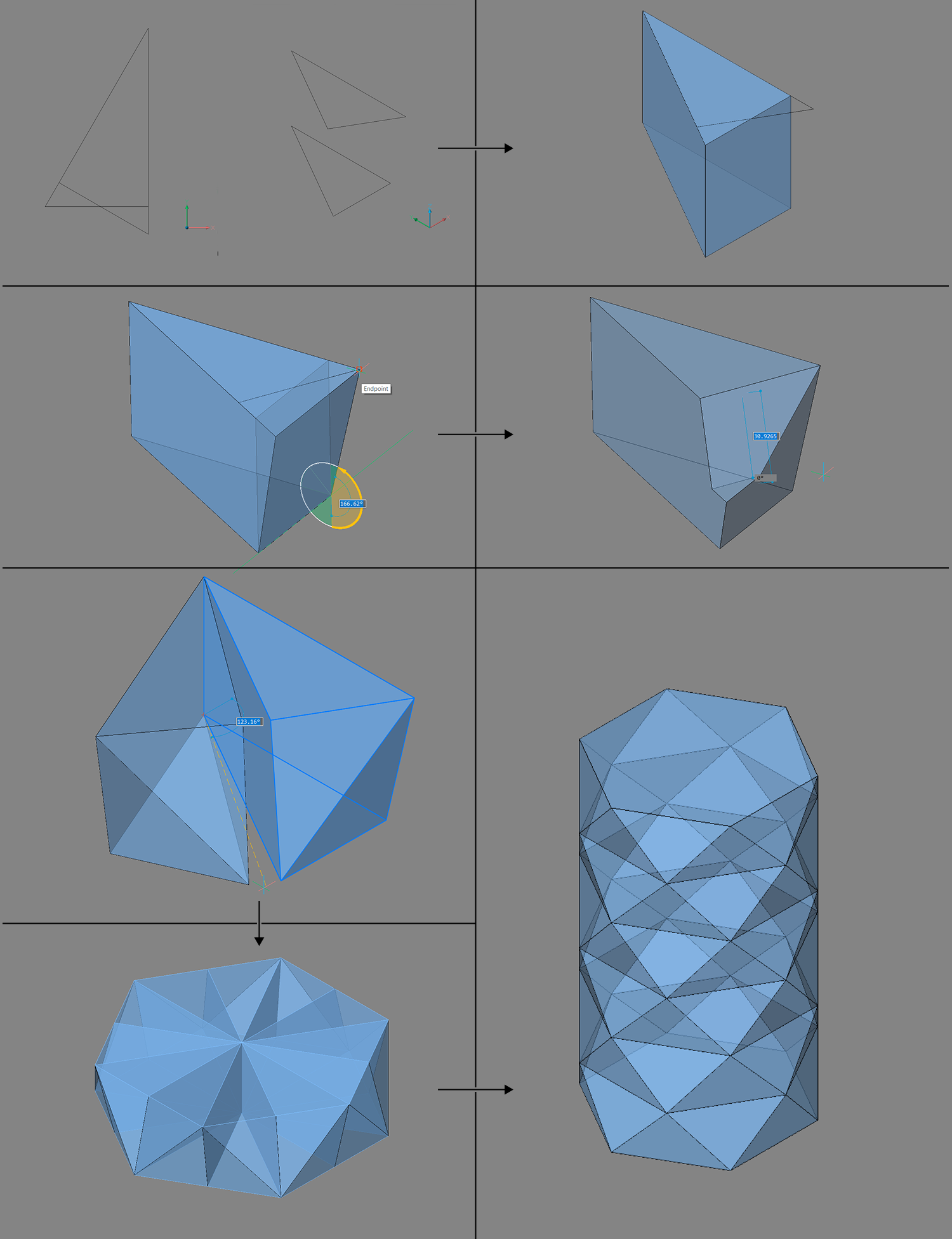instructions on how to create an object with solids in BricsCAD