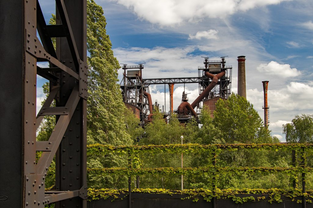 Nature is reclaiming the old refinery.