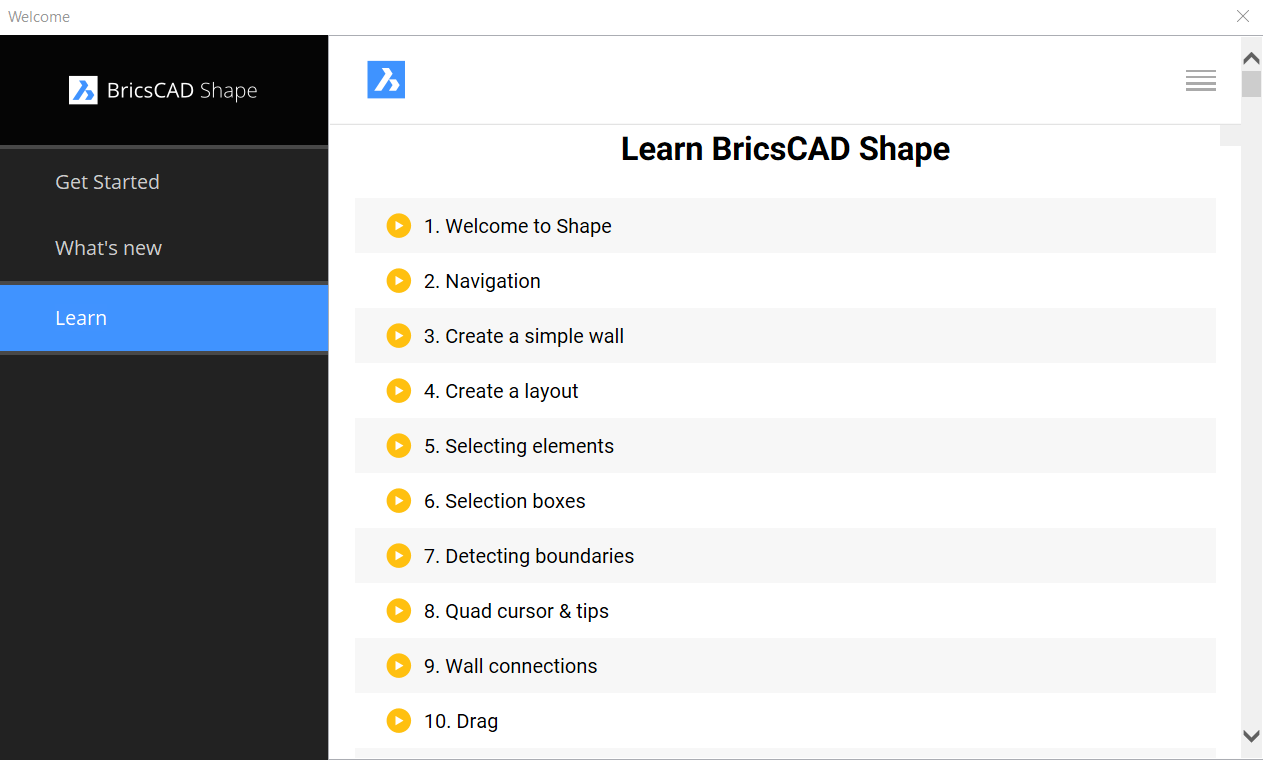 learn BricsCAD Shape in less than 25 minutes tutorials