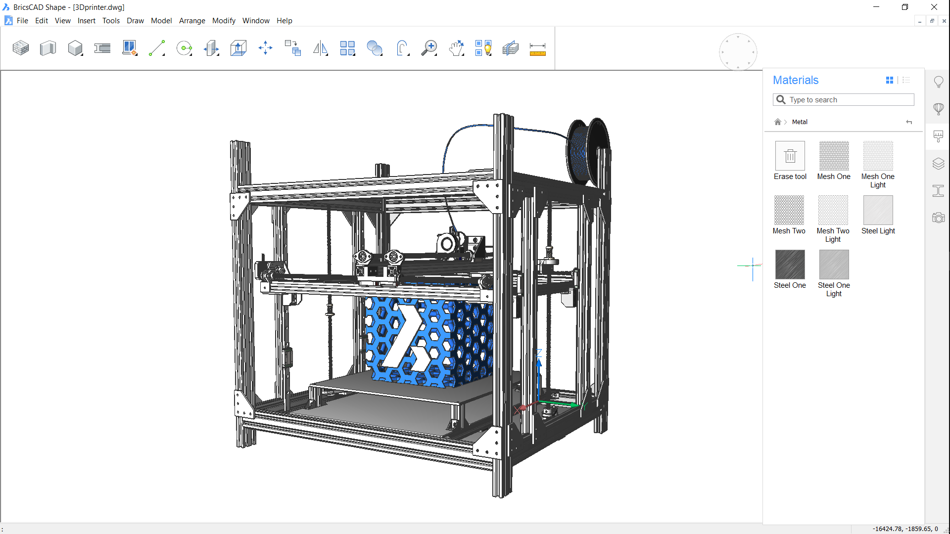 BricsCAD Shape screen shot 3D printing software free