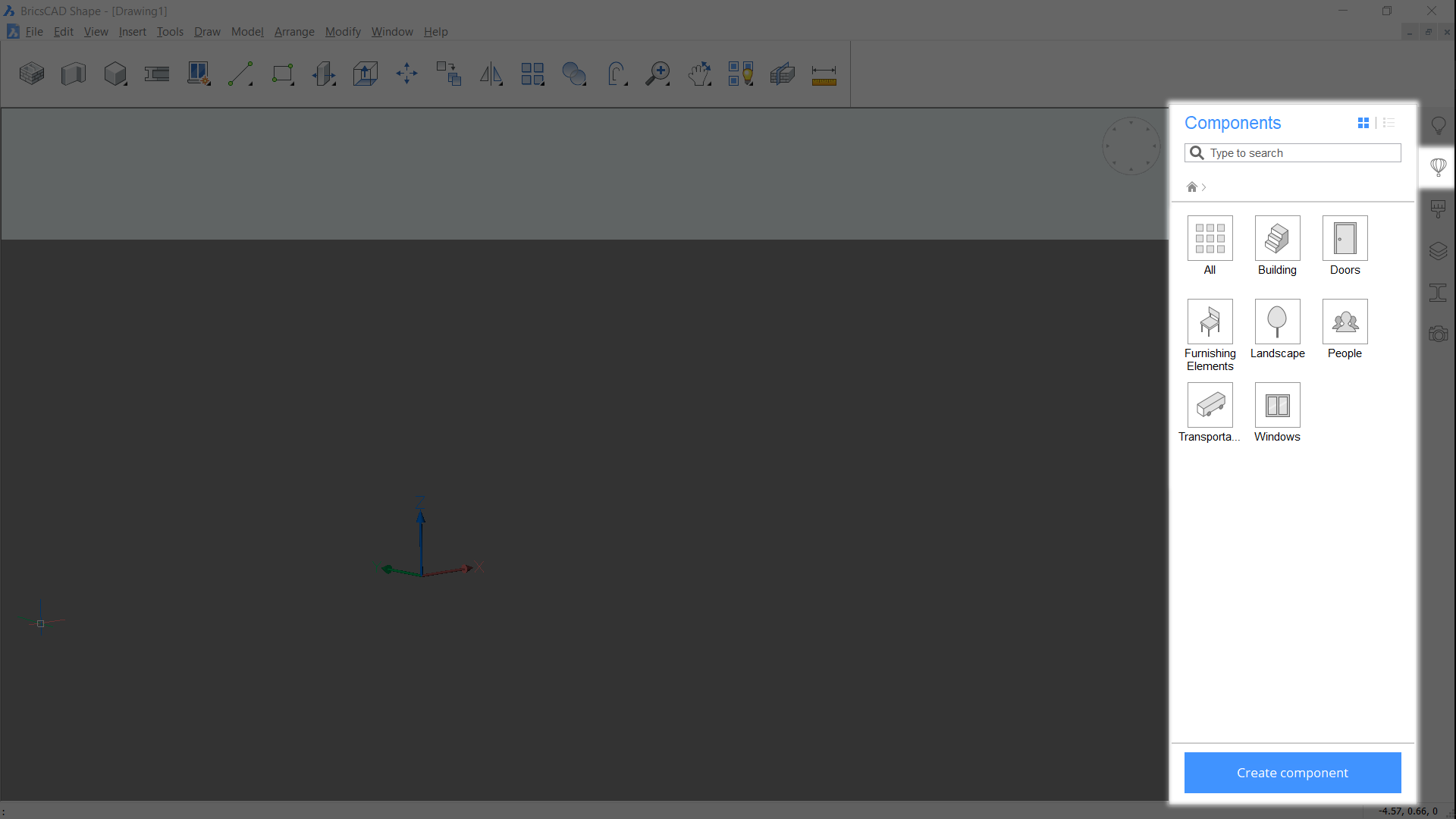 components bricsCAD Shape