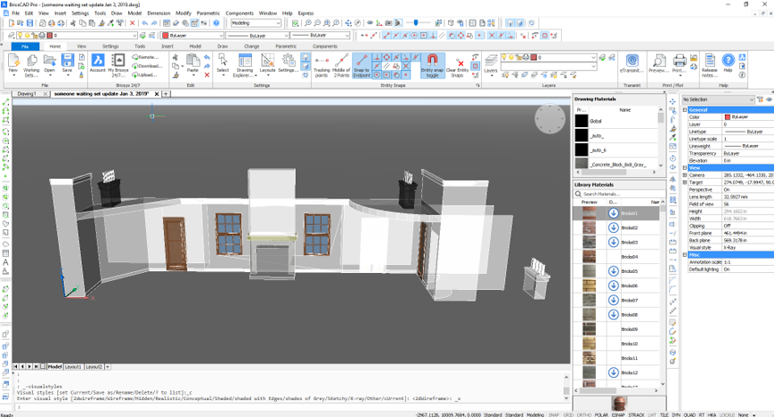 set stage design CAD product