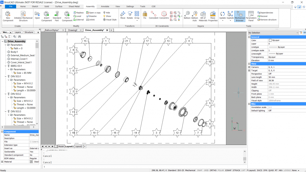 custom balloon and leader line styles in BricsCAD