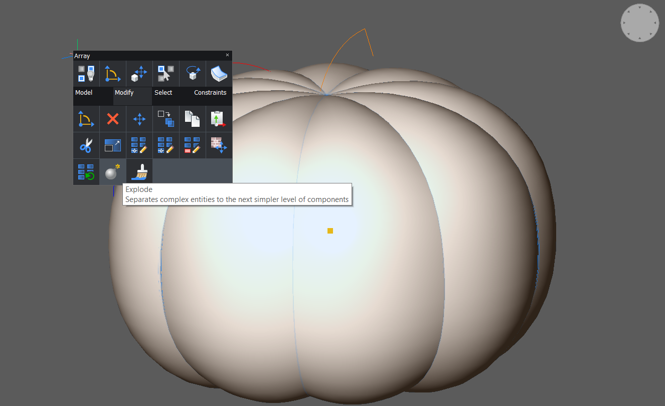 explode pumpkin halloween CAD tutorial