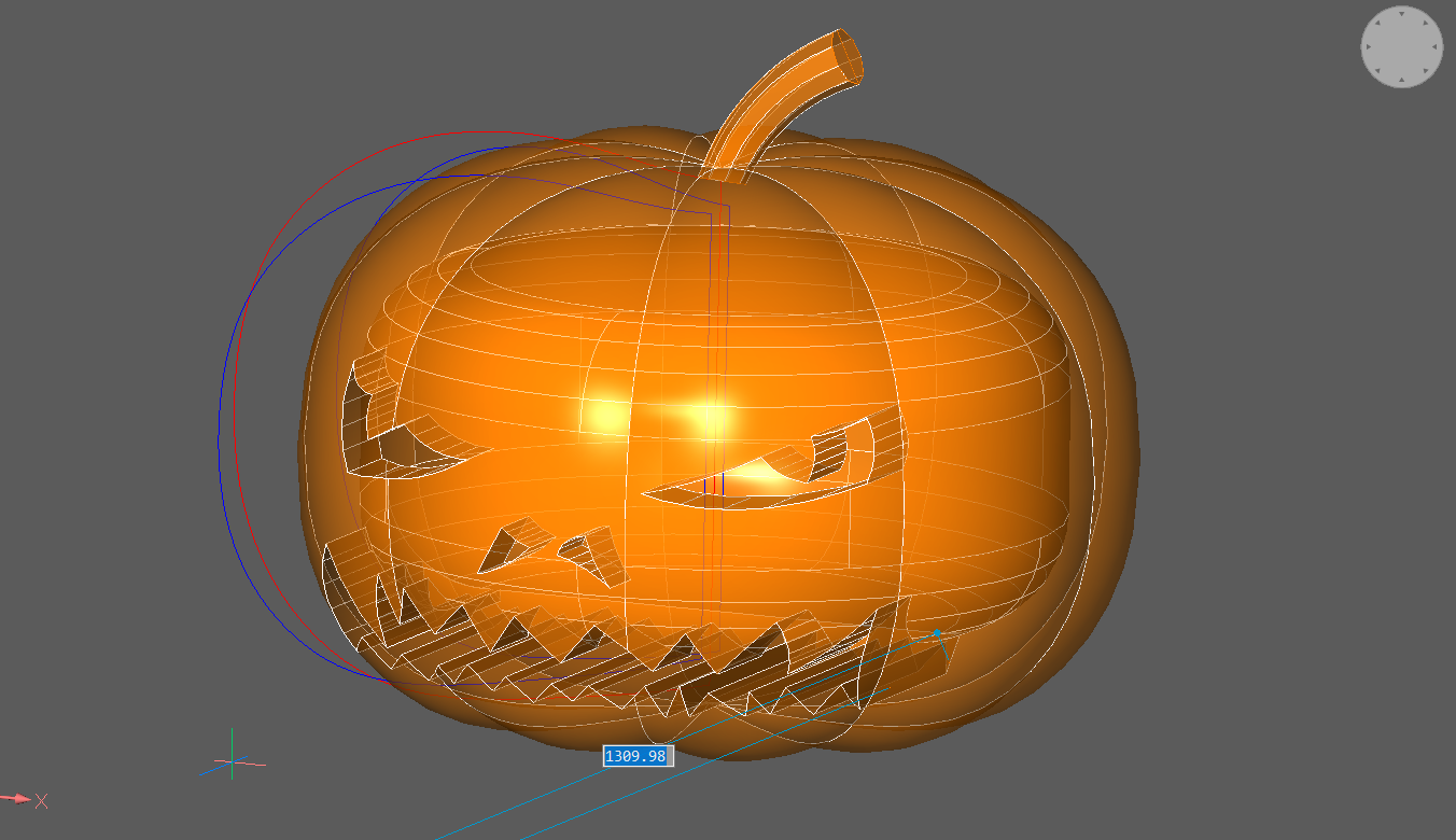 pumpkin halloween CAD tutorial