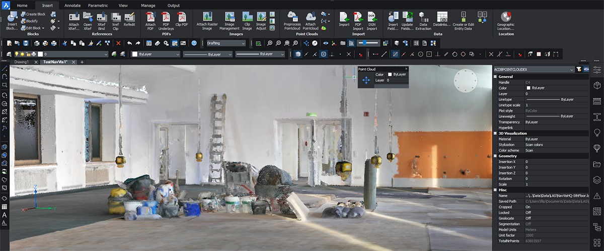 How to use point clouds in BricsCAD V20