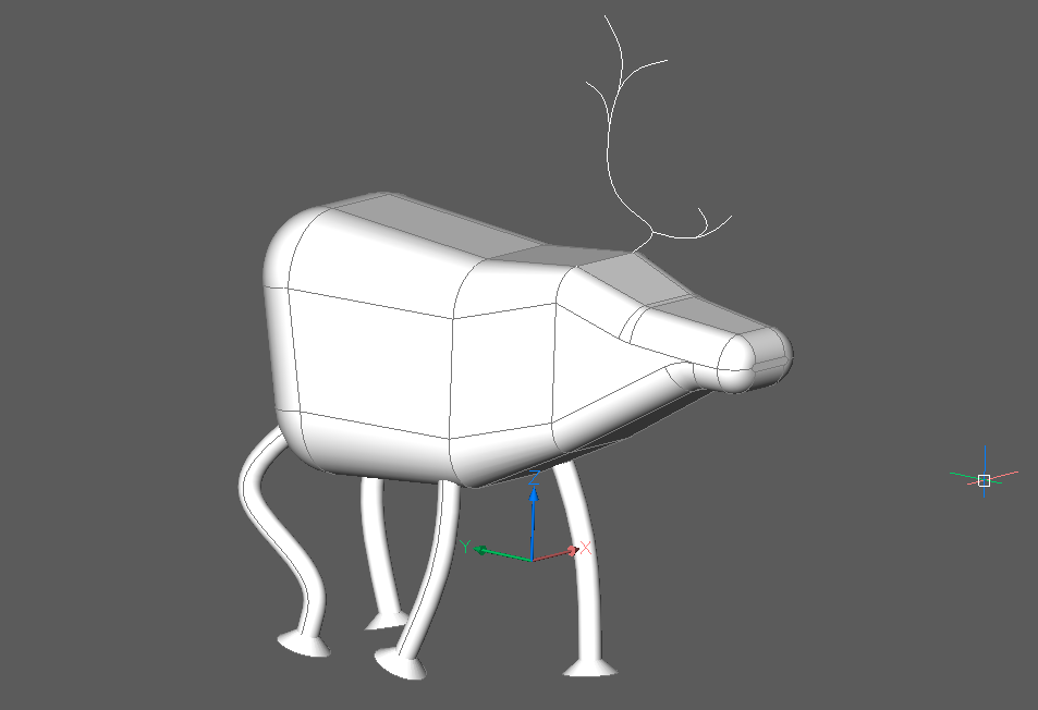 Rudolph the Rednose Reindeer in CAD