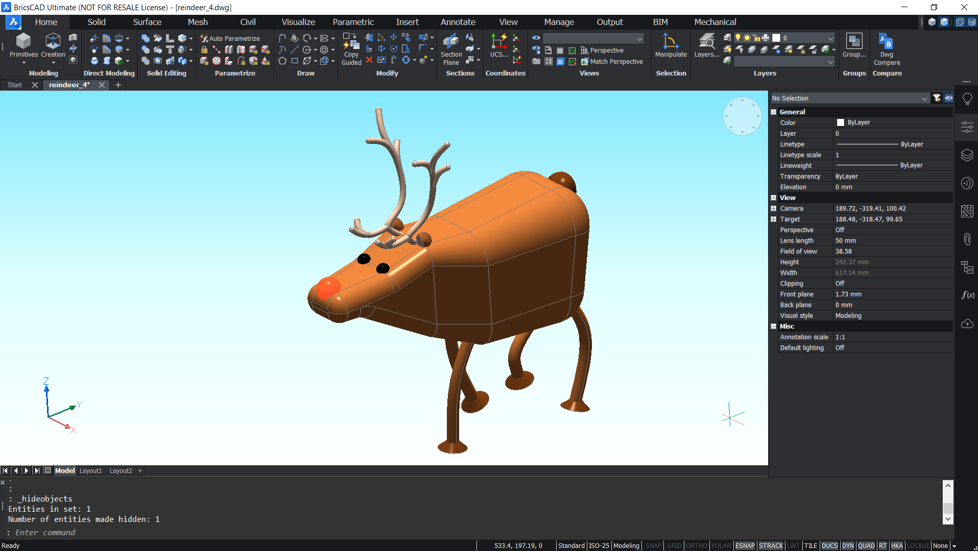Christmas build challenge BricsCAD