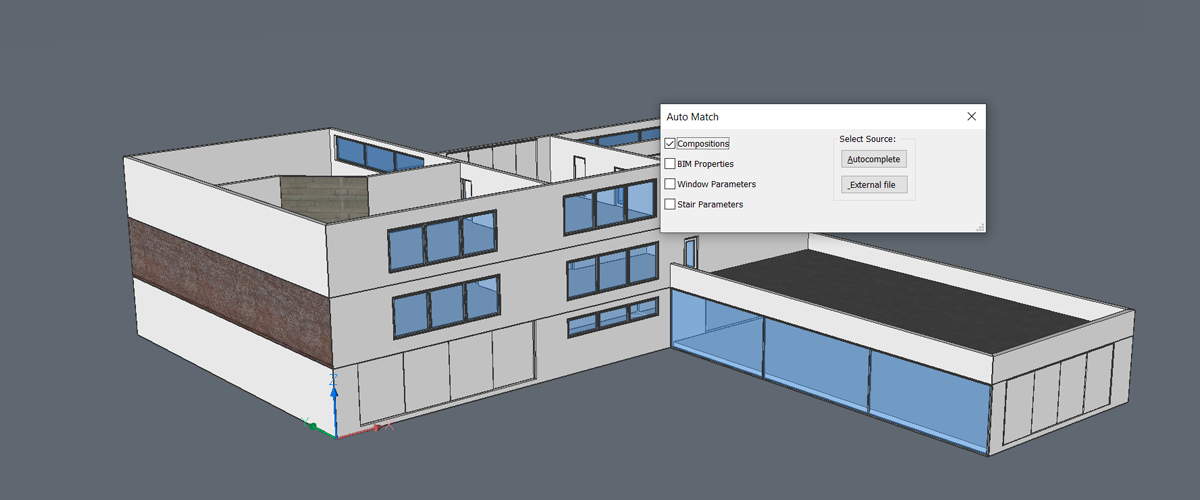 Automatically Apply BIM Data and Properties with BimAutoMatch – New for BricsCAD BIM V20