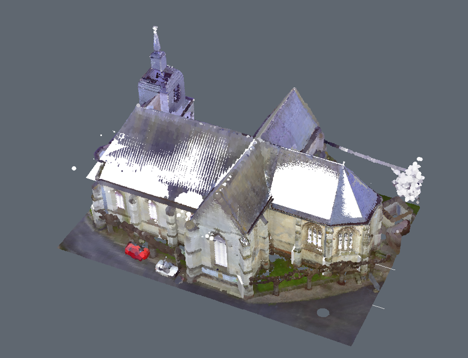 church point cloud roof