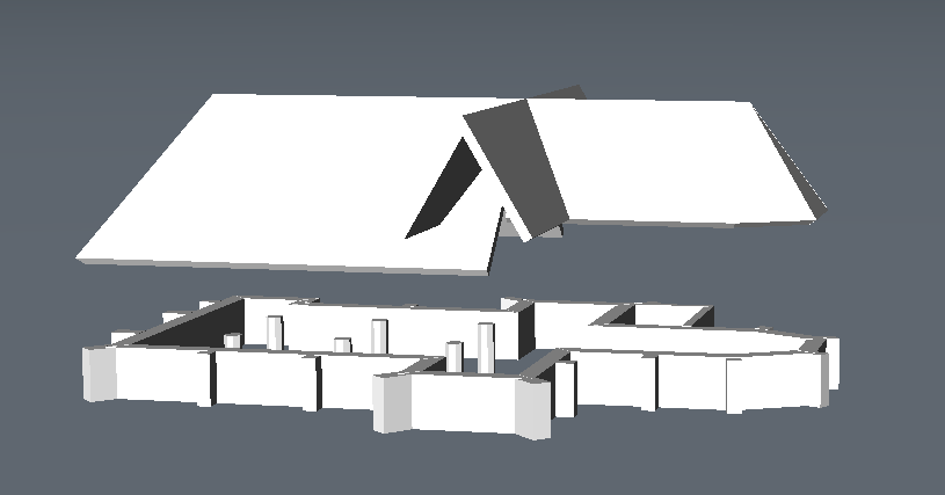 coonect roof to walls modeling a church bricscad BIM