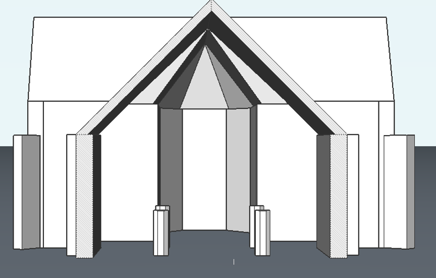 model church in CAD BIM bricscad