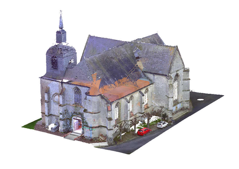 clip point cloud church model
